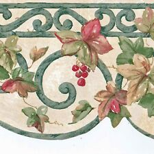 Victorian Scrolls Wallpaper Border - Wrought Iron Leaves - Norwall Borders - 918