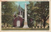 Postcard Christ's Episcopal Church Dover DE 1940