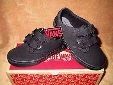 NEW VANS ATWOOD V CANVAS SKATE SHOE BLACK/BLACK YOUTH 1.5Y