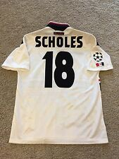 MANCHESTER UNITED AWAY SHIRT 1997/99 LARGE (L) ADULTS SCHOLES 18 VINTAGE JERSEY