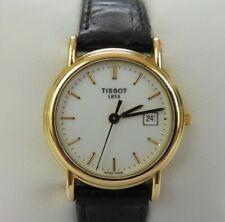 Vintage Tissot 1853, Gold 14K- 585, Quarz Werk, Datum, neue Batterie, orig.Armb