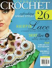 Interweave Crochet magazine Spring 2012~skirts~shawls~vest~top~bag~see pictures!