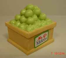 Honeydew Melon Market Bin Miniature 1/24 Diorama Accessory Item