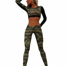 US Women Gym Yoga Crop Tops Long Sleeve Workout Fitness Running Sport T-Shirts