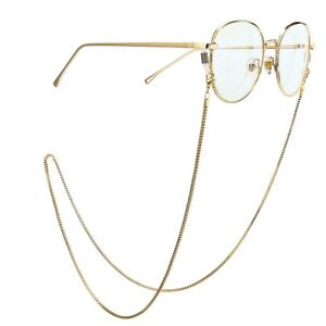 Metal Glasses Neck Chain Cord Lanyard Gold Retainer Spectacles Sunglasses