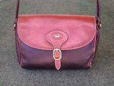 Bally Italian Leather HandBag Shoulder Bag Crossbody Purse Satchel Black & Brown