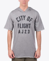 Jordan City Of Flight Short Sleeve Hooded Top new men grey black 911317-091