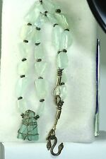 ZOO STERLING SILVER 500 CARAT AQUAMARINE CHUNK AND SEA GLASS NECKLACE