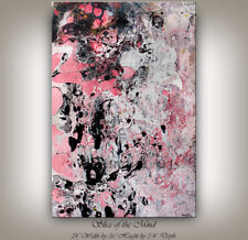 MIXED MEDIA Art, Fluid Art Hand-painted pink wall art painting -Nandita Albright
