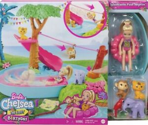 Barbie Chelsea the Lost Birthday, Doll & Splashtastic Pool Surprise Playset
