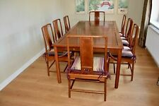 Large Extending Dining Table and 8 Chairs Solid Rosewood Chinese Delivery Availa