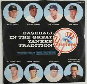 "Scarce 1960's Mickey Mantle Baseball 7"" Record w/ Sleeve"