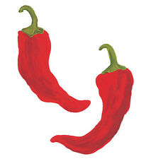 Chili Peppers 25 Red Rojo Pepper Wall Stickers Wallies Chillies Stickers Decals