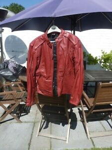 Ladies frank thomas summer vented leather jacket Size 14