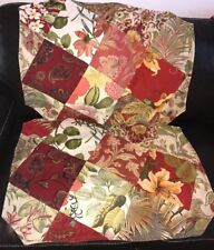 Set Of Two Red Patchwork Standard Pillow Shams Unique New