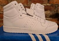 adidas TOP TEN HI UK12 US12.5 EUR47 1/3 TRIPLE WHITE S84596 RETRO BASKETBALL