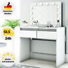 Schminktisch Spiegel LED-Beleuchtung Kosmetiktisch Frisiertisch Schubladen Weiß