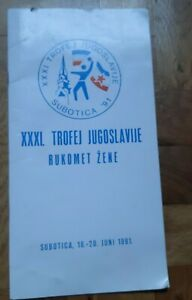 1991 SUBOTICA YUGOSLAVIA trophy WOMAN HANDBALL LARGE BULLETIN PROGRAM BROCHURE