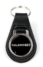 Triumph Toledo TS Logo Quality Black Leather Keyring