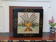 Dollhouse Miniature Artisan Karen Steely Painted Fireplace Board Signed 1:12