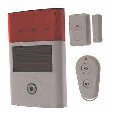 Wireless Shed Door Alarm & Solar Siren (battery powered)