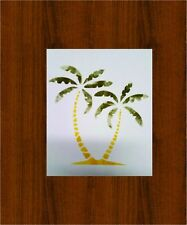"Palm Trees Oil Board Stencil  8 X 7.5"""