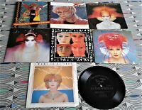 """8 X Toyah 7"""" Singles All Vinyl  EXCELLENT. 7 with PIC SLEEVES AND 1 Floppy Disc"""