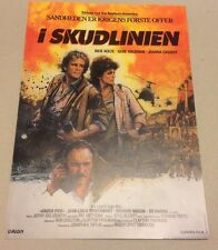 """Under Fire"" Nick Nolte Gene Hackman Cassidy 1983 Danish Movie Press Release Kit"