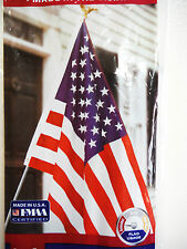 Flag 4Th Of July Patriotic Decor.U.S.A Flag And Pole 3'X5'Flag. Pole Is 6' Long