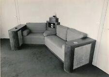 Photographie Intérieur Art déco au canapé tirage argentique époque G. Martin