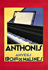 Art Publicitaire Deco Anthonis Anvers Piano Poster Print
