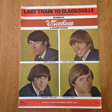 Monkees Last Train to Clarksville 1966 Original Sheet Music Great Condition! |