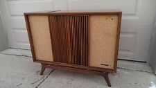 RCA VC-184 Mid Century Modern Console Stereo Record Player / With Documentation