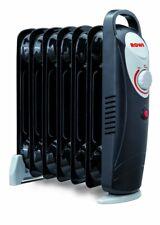 Rowi Ölradiator 7 Rippen HOR 800/7/2 Mini schwarz Ölheizgerät Elektroheizung
