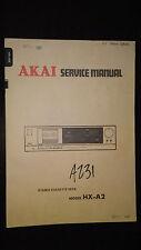 Akai hx-a2 service manual original repair book stereo cassette deck tape player