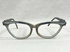 Vintage Liberty 5 1/2 Cats Eye Eyeglass Frames Translucent Floral Inserts