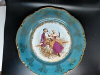 KPM German courting couple dinner/Cabinet plates TWO blue/gold very good conditi