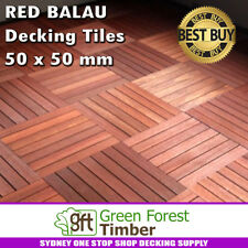 10 SQM Balau Decking Tiles 50 x 50 mm