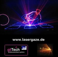 3m x 2m Lasergaze schwarz, unkonfektioniert, Laser & Beamer Gewebe, 3D Effekte