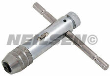 Brand New 105mm T Type Ratchet Tap Wrench Sizes M5 - M10   Forward and Reverse *