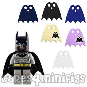 3 CUSTOM Bite capes for your Lego minifig eg Batman, Robin or Batgirl. CAPE ONLY