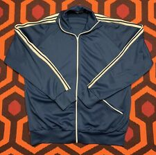 Vintage HABAND Track Jacket Zip Up Men's Size 2XL Dark Blue 100% Nylon