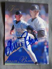 Toronto Blue Jays Willie Blair Auto 1993 Fleer Flair Card Auto