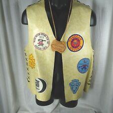 YMCA Indian Guides Mens Vinyl Vest 9 Patches 1972-74 Buehler