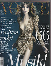 Vogue 8/2010 Mick Jagger/CAVALLI/CUIR/Abbey Lee/Bruce Weber: Sam Taylor-Woods