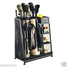Suncast Golf Bag Gear Shoe Rack Storage Organizer