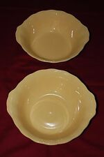 RARE MINT GRINDLEY LABURNUM PETAL YELLOW 10 INCH VEGETABLE SALAD SERVING BOWLS