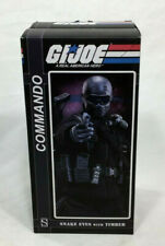 Sideshow GI Joe Commando Snake Eyes Figure & Timber Wolf Doll 1:6 Scale NEW MISB