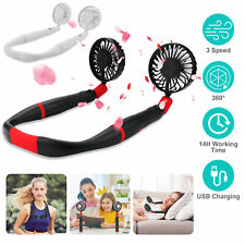 2 in 1 Detachable Neck Fan Portable USB Necklace Fan for Outdoor Camping Hiking