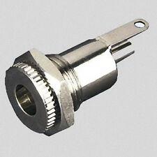 Netzgerät Hohlstecker-Buchse Øi-2,1mm  Øa-5,5mm Voll-Metall Zentraleinbau